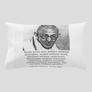 Seven Social Sins - Mahatma Gandhi Pillow Case