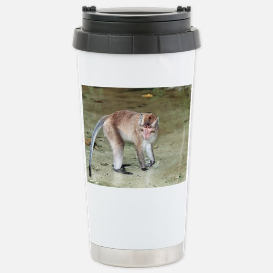 Long-tailed macaque - Stainless Steel Travel Mug