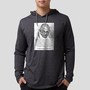 Seven Social Sins - Mahatma Gandhi Mens Hooded Shi