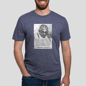 Seven Social Sins - Mahatma Gandhi Mens Tri-blend