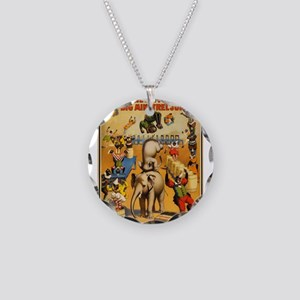 circus Necklace Circle Charm