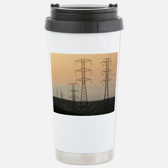 Power lines - Stainless Steel Travel Mug
