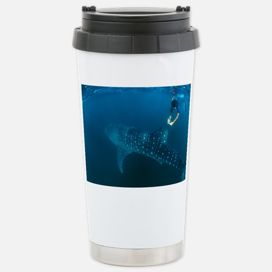 Whale shark and snorkeler - Stainless Steel Travel