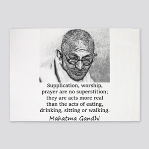 Supplication Worship Prayer - Mahatma Gandhi 5'x7'