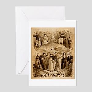 gilbert and sullivan Greeting Card