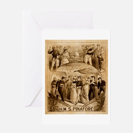 gilbert and sullivan Greeting Card