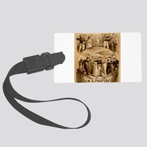 gilbert and sullivan Large Luggage Tag