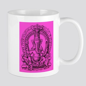 Pink Ganesh Hindu God of Knowledge Engraving Mug