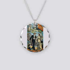 gilbert and sullivan Necklace Circle Charm