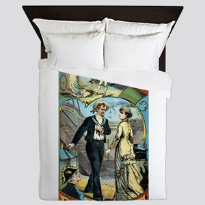 gilbert and sullivan Queen Duvet
