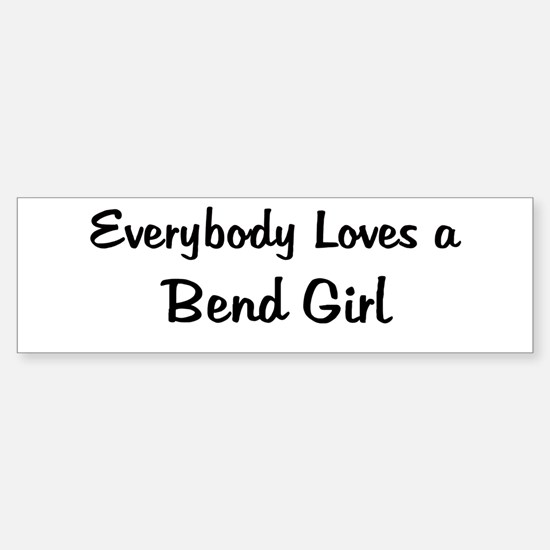 Bend Girl Bumper Bumper Bumper Sticker