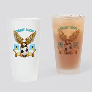 Saint Lucia Football Design Drinking Glass
