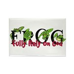 FROG: Fully Rely on God Rectangle Magnet (100 pack