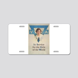 young women Aluminum License Plate