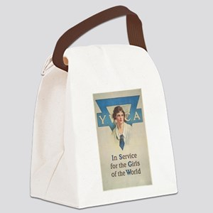 young women Canvas Lunch Bag