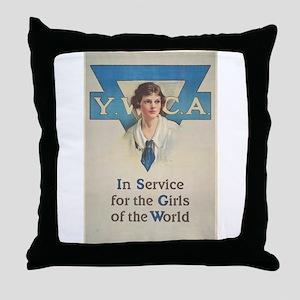 young women Throw Pillow