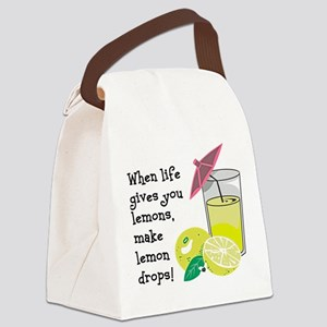 Lemon Drop Martini Canvas Lunch Bag