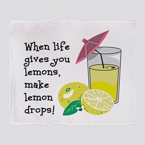Lemon Drop Martini Throw Blanket