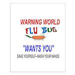 Flu Epidemic Pandemic Small Poster