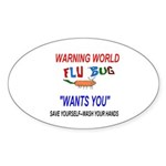 Flu Epidemic Pandemic Sticker (Oval 50 pk)