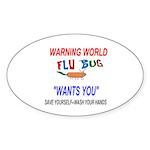 Flu Epidemic Pandemic Sticker (Oval 10 pk)