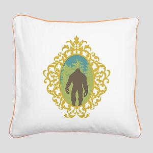 Bigfoot Vintage Square Canvas Pillow