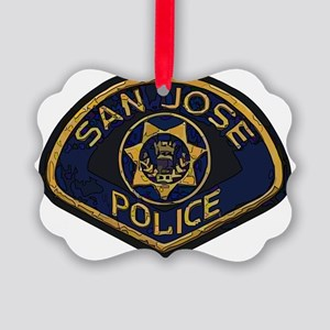 San Jose Police patch Picture Ornament