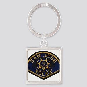 San Jose Police patch Square Keychain