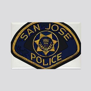 San Jose Police patch Rectangle Magnet (10 pack)