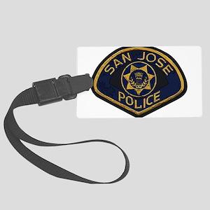 San Jose Police patch Large Luggage Tag