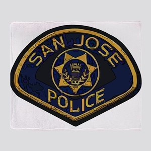 San Jose Police patch Throw Blanket