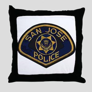 San Jose Police patch Throw Pillow