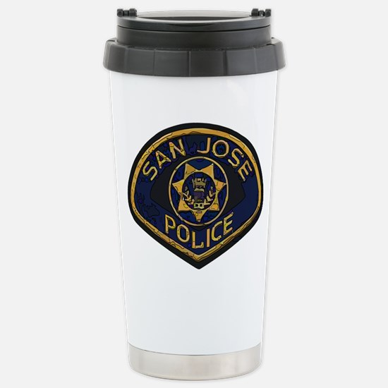 San Jose Police patch Stainless Steel Travel Mug