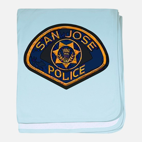 San Jose Police patch baby blanket