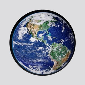 Earth from space, satellite image - Round Ornament