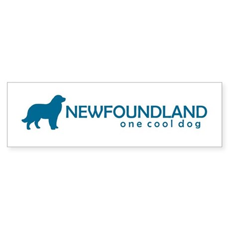 "Newfoundland ""One Cool Dog"" Bumper Sticker"