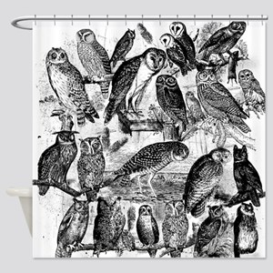 Vintage Owls Shower Curtain