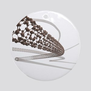 Nanotube technology, artwork - Round Ornament
