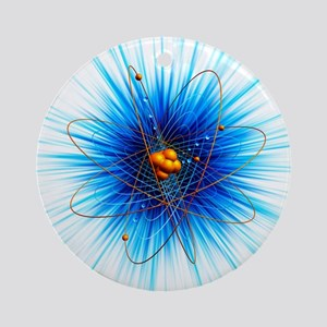 Atomic structure, artwork - Round Ornament