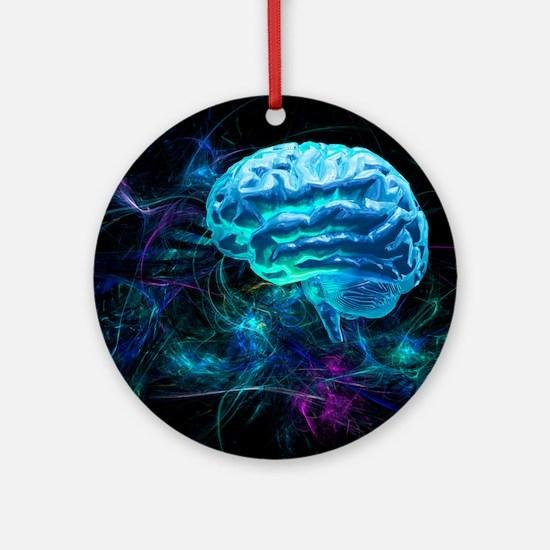 Brain research, conceptual artwork - Round Ornamen