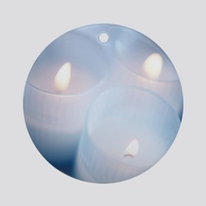 Candles - Round Ornament