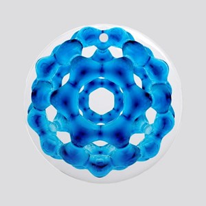 Buckyball, C60 Buckminsterfullerene - Round Orname