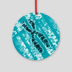 Chromosome, artwork - Round Ornament