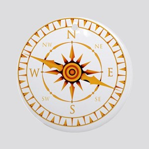 Compass rose - Round Ornament