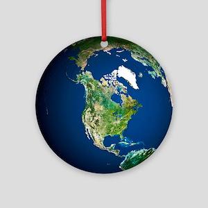 Earth - Round Ornament