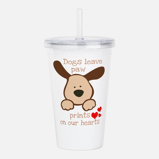 dogs leave paw prints Acrylic Double-wall Tumbler