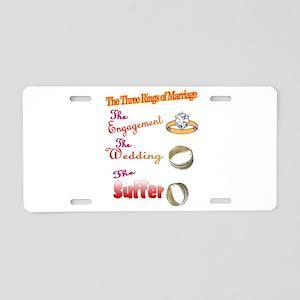 Wedding rings Aluminum License Plate