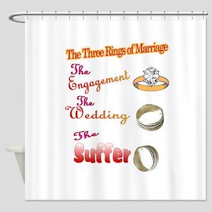 Wedding rings Shower Curtain