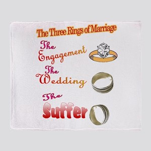 Wedding rings Throw Blanket