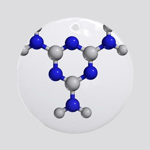 Melamine molecule - Round Ornament